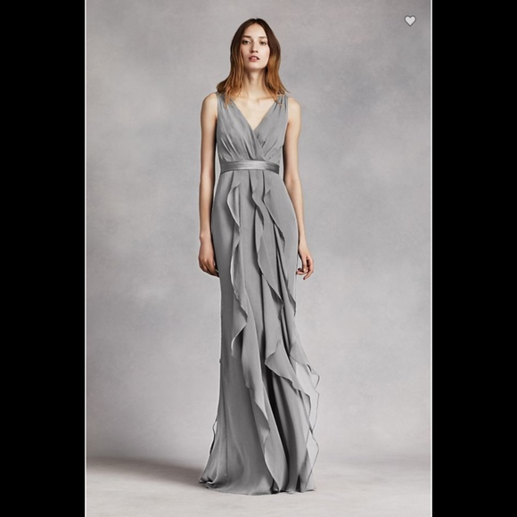 e180f4bce050 White by Vera Wang Dresses   Vera Wang Vneck Wrapped Bodice Dress ...